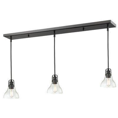 Lindley 3-Light Kitchen Island Pendant Finish: Bronze