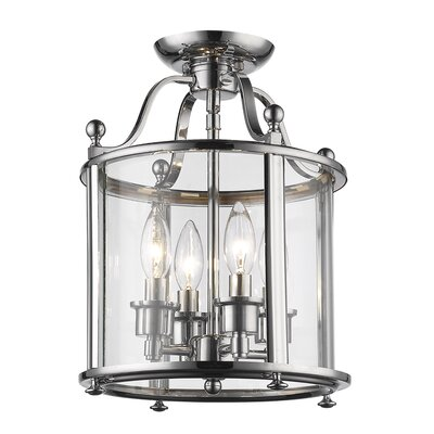 Lucah 4-Light Semi Flush Mount Finish: Chrome