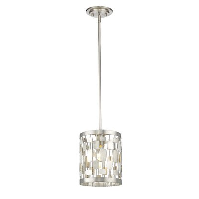 Almet 1-Light Mini Pendant Finish: Brushed Nickel