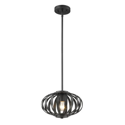 Moundou 1-Light Globe Pendant Finish: Bronze