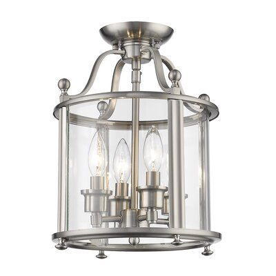 Wyndham 4-Light Semi Flush Mount Finish: Brushed Nickel