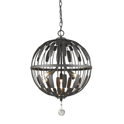 Fearn 5-Light Globe Pendant Finish: Bronze