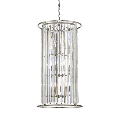 Monarch 12-Light Foyer Pendant Finish: Brushed Nickel