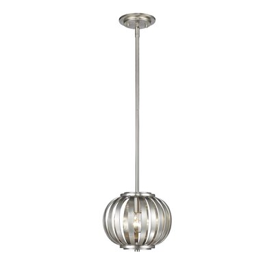 Moundou 1-Light Globe Pendant Finish: Brushed Nickel