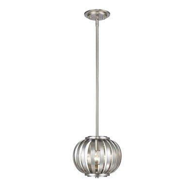 Fava 1-Light Globe Pendant Finish: Brushed Nickel