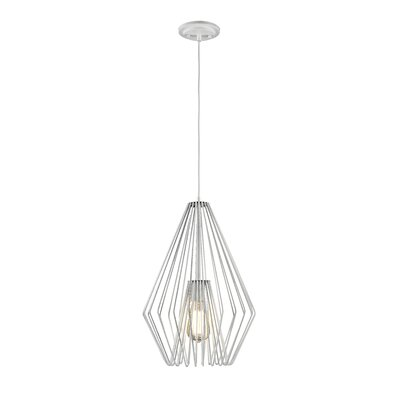Risher 1-Light Mini Pendant Finish: White, Size: 18.5 H x 12.25 W x 12.25 D