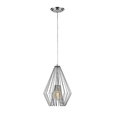 Risher 1-Light Mini Pendant Finish: Chrome, Size: 18.5 H x 12.25 W x 12.25 D