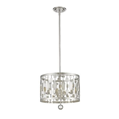 Fearn 3-Light Drum Pendant Finish: Brushed Nickel