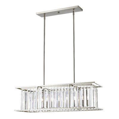 Monarch 6-Light Kitchen Island Pendant Finish: Brushed Nickel