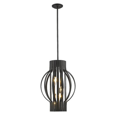 Moundou 4-Light Foyer Pendant Finish: Bronze