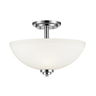 Kepner 3-Light Metal Semi Flush Mount Finish: Chrome
