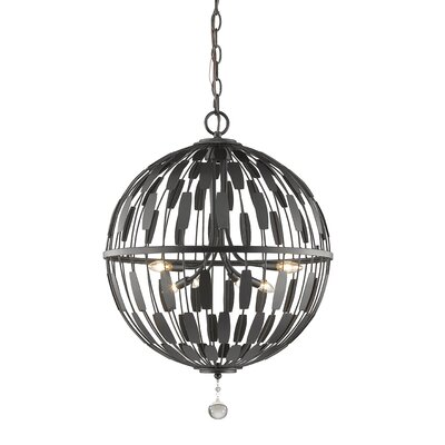 Almet 6-Light Globe Pendant Finish: Bronze