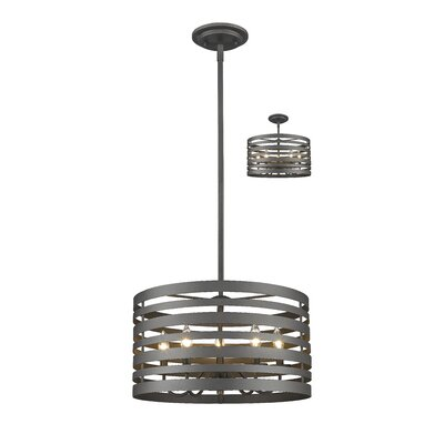 Fedele 5-Light Drum Pendant Finish: Bronze