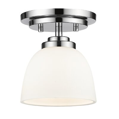Ashton 1-Light Semi Flush Mount Finish: Chrome