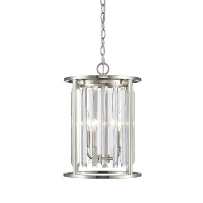 Chelvey 3-Light Foyer Pendant Finish: Brushed Nickel