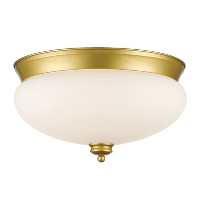Casselman 3-Light Bowl Flush Mount Finish: Satin Gold