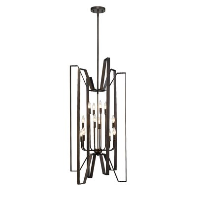 Fawcett 12-Light Foyer Pendant Finish: Bronze