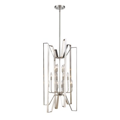 Fawcett 12-Light Foyer Pendant Finish: Brushed Nickel