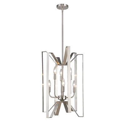 Fawcett 6-Light Foyer Pendant Finish: Brushed Nickel