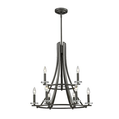 Favela 9-Light Semi Flush Mount Finish: Bronze