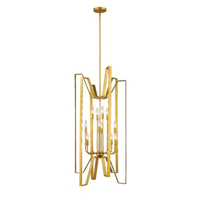 Marsala 12-Light Foyer Pendant Finish: Polished Metallic Gold