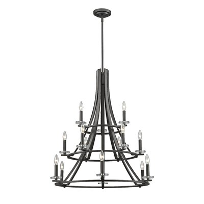 Verona 15-Light Semi Flush Mount Finish: Bronze