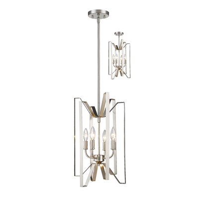 Fawcett 4-Light Foyer Pendant Finish: Brushed Nickel