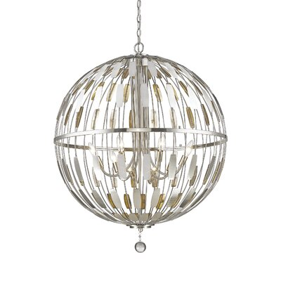 Almet 8-Light Globe Pendant Finish: Brushed Nickel