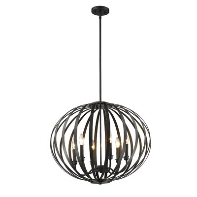 Fava 6-Light Globe Pendant Finish: Bronze