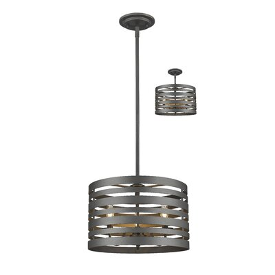 Fedele 3-Light Drum Pendant Finish: Bronze