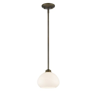 Casselman 1-Light Bowl Mini Pendant Finish: Olde Bronze, Size: 6.5 H x 8 W x 8 D