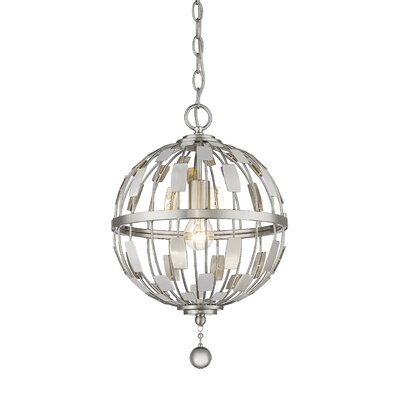Fearn 1-Light Globe Pendant Finish: Brushed Nickel