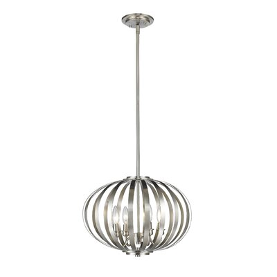 Fava 4-Light Globe Pendant Finish: Brushed Nickel