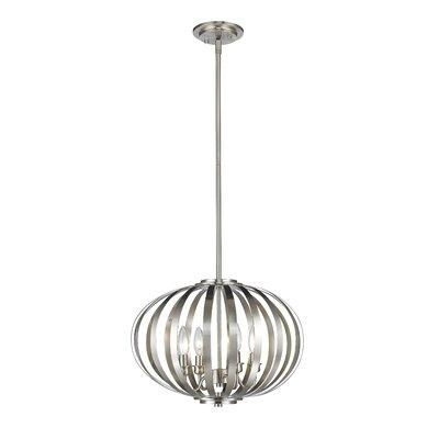 Moundou 4-Light Globe Pendant Finish: Brushed Nickel