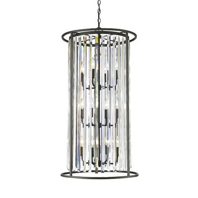 Chelvey 12-Light Foyer Pendant Finish: Bronze