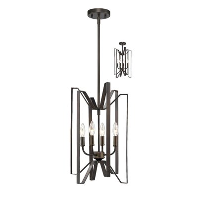 Fawcett 4-Light Foyer Pendant Finish: Bronze