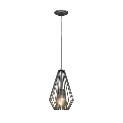 Risher 1-Light Mini Pendant Finish: Bronze, Size: 15.75 H x 9.25 W x 9.25 D