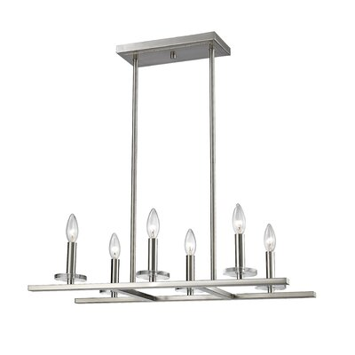 Favela 6-Light Kitchen Island Pendant Finish: Brushed Nickel