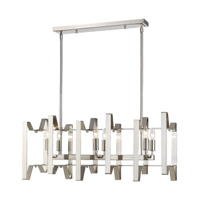 Fawcett 6-Light Kitchen Island Pendant Finish: Brushed Nickel
