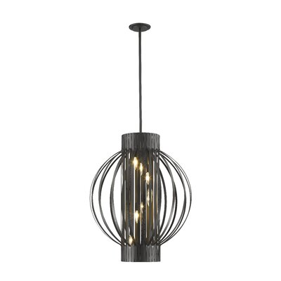 Fava 8-Light Foyer Pendant Finish: Bronze