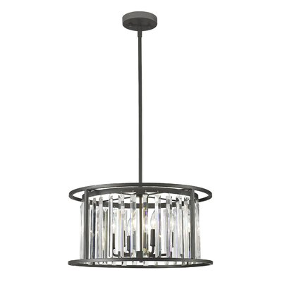 Chelvey 6-Light Drum Pendant Finish: Bronze