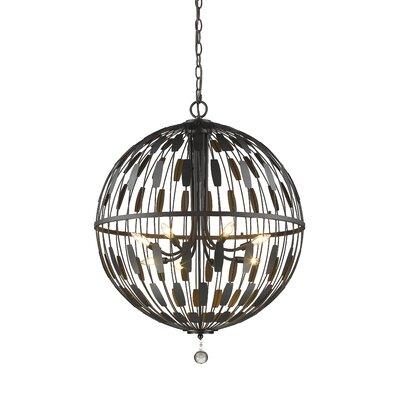 Fearn 8-Light Globe Pendant Finish: Bronze