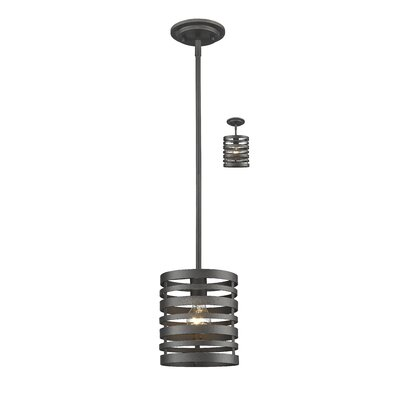 Fedele 1-Light Mini Pendant Finish: Bronze