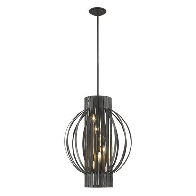 Fava 6-Light Foyer Pendant Finish: Bronze