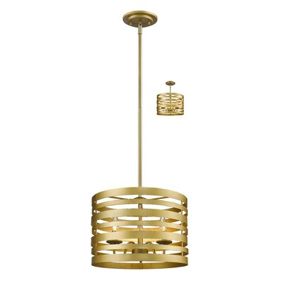 Fedele 3-Light Drum Pendant Finish: Satin Gold