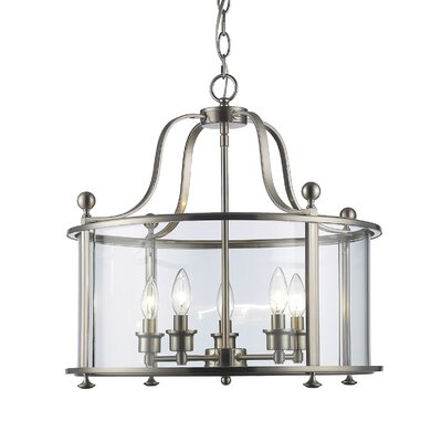 Wyndham 5-Light Foyer Pendant Finish: Brushed Nickel