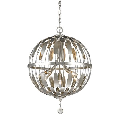 Almet 5-Light Globe Pendant Finish: Brushed Nickel