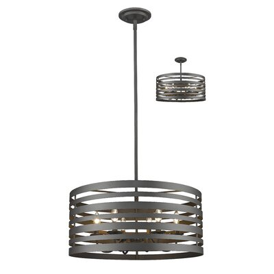 Fedele 6-Light Drum Pendant Finish: Bronze