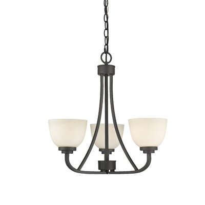 Kepner 3-Light Shaded Chandelier Finish: Bronze