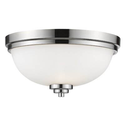 Kepner 3-Light Metal Flush Mount Finish: Chrome